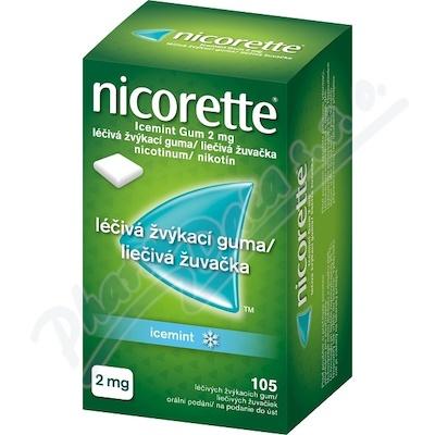 Nicorette Icemint Gum 2mg léčivá žvýkací guma 105