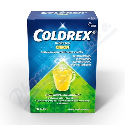 Coldrex Horký nápoj Citron por.plv.sol.scc.10
