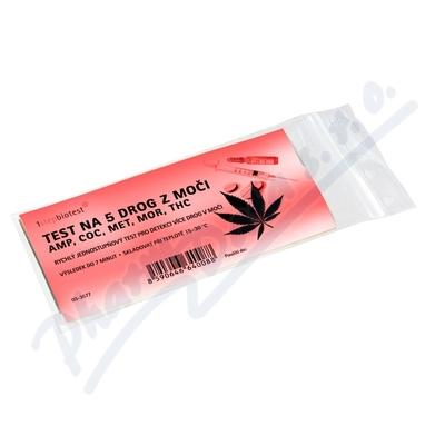 Test na 5 drog z moči AMP COC MET MOR THC