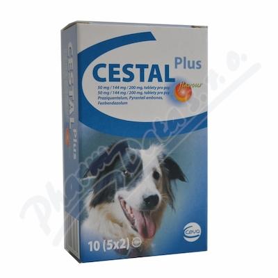 Cestal plus flavour 50mg/144/200mg tbl.10 pro psy