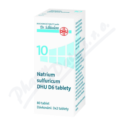 No.10 Natrium sulfuricum DHU D6 80 tablet