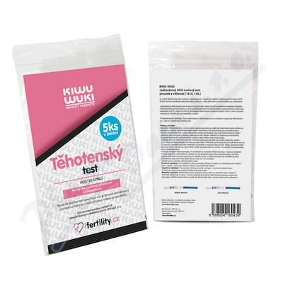 KIWU WUKI Těhotenský test (10mlU/ml) 5ks