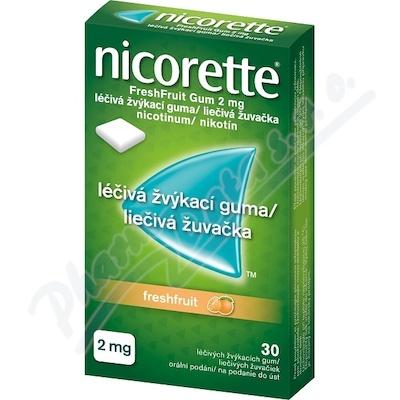 Nicorette FreshFruit Gum 2mg léčivá žvýk.guma 30