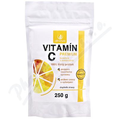 Allnature Vitamín C prášek Premium 250g