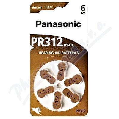 Panasonic PR312(PR41) baterie do naslouchadel 6ks