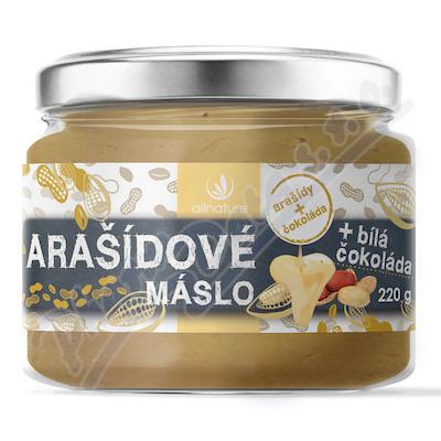 Allnature Arašídové máslo s bílou čokoládou 220 g