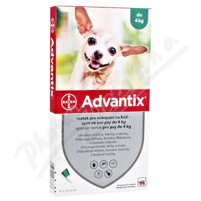 Advantix pro psy do 4kg spot-on 4x0.4ml