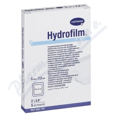 Náplast fixační HYDROFILM PLUS 5x7.2cm 5ks
