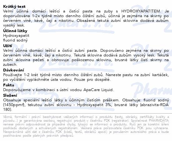 ApaCare Polis pasta s Hydroxyapatitem 20ml