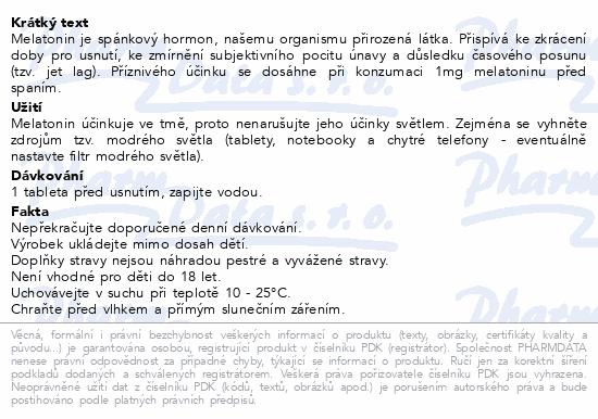 Abfarmis Melatonin 2mg tbl.60